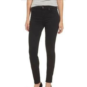 7 For All Mankind Black Skinny jeans size …